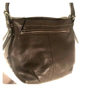 Coach crossbody brown leather bag